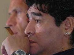 Maradona, detenido por un accidente de tráfico