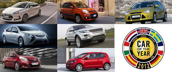 Los siete finalistas del Car Of The Year 2012