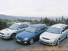 Comparativa: Ford Mondeo ST 220 Wagon / Lexus IS SportCross / Subaru Impreza 2.0T WRX AWD SW