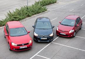 Citroën C4 1.6 HDi vs Toyota Auris 1.4 D-4D y VW Golf 1.6 TDi