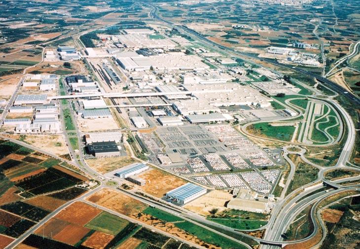 Imagen aérea de la planta de fabricación de Ford en Almussafes