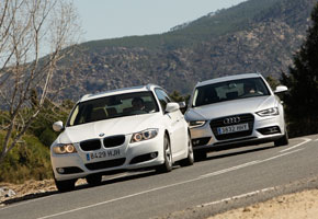 Audi A4 2.0 TDI Avant vs BMW 320d Touring ED Edition