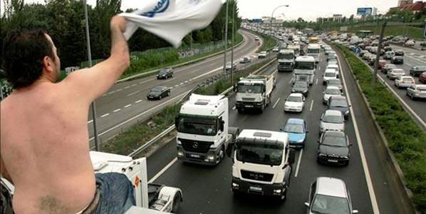 Madrid, bloqueada por la huelga