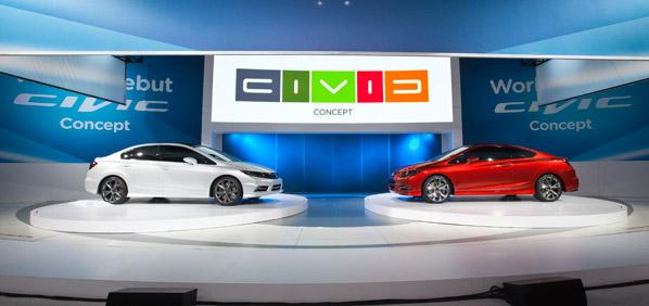 Honda Civic Si Concept Coupé y Concept Sedán