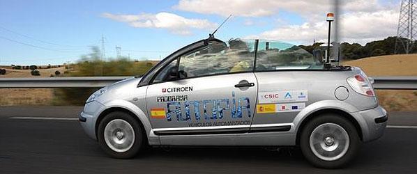 Un coche español recorre 100 km sin conductor