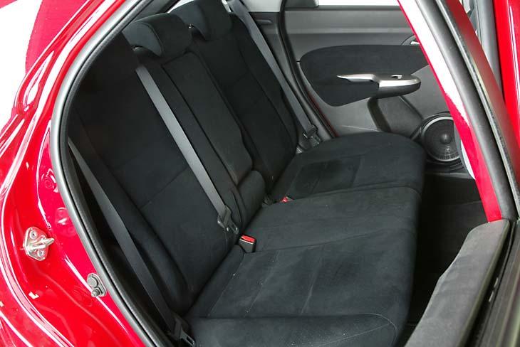Honda Civic: los asientos traseros no son muy amplios.