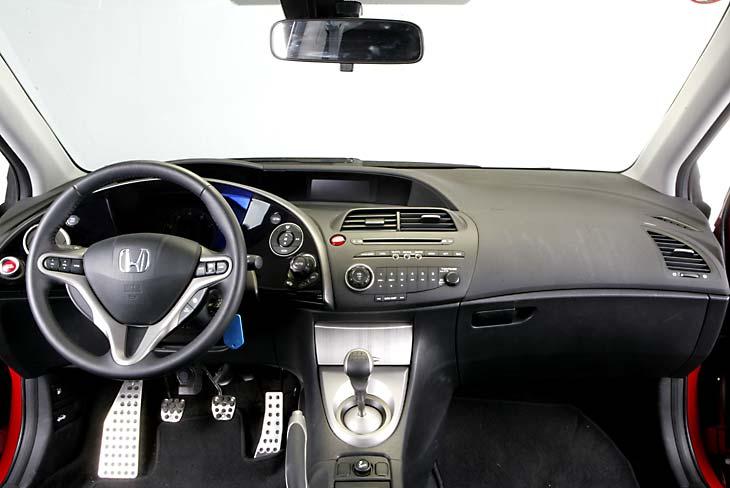 Honda Civic: el interior parece una nave espacial.