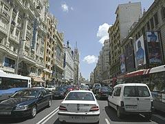 Desciende el tráfico en Madrid
