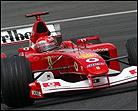 Schumacher prepara su exhibición en casa