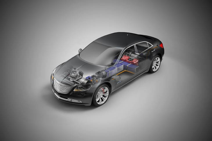 Chrysler 200C EV Concept: berlina eléctrica de largo alcance