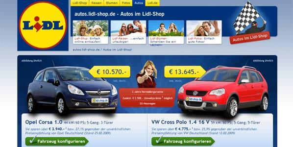 Lidel también vende coches, en Alemania