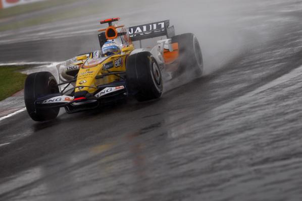 Lluvia torrencial en Monza