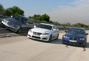 BMW M3 Coupé, Lexus IS F y Mercedes C 63 AMG