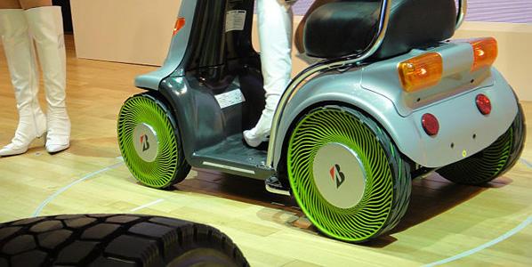 Bridgestone desarrolla el neumático sin aire