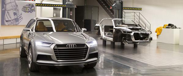 Dentro del centro de diseño de Audi