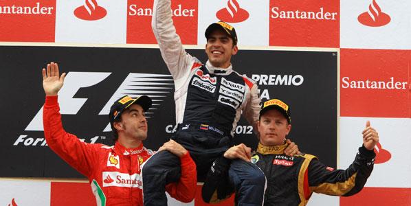 Maldonado le gana la batalla a Alonso en Montmeló