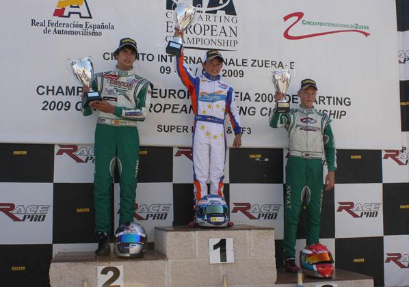 Carlos Sainz Jr. subcampeón de Europa