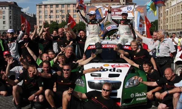 Doblete de Skoda en el Rallye de Rusia