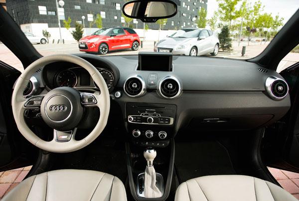 Audi A1 contra Citroën DS3 y Honda CR-Z