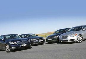 Audi A6 3.0 TDi Quattro  vs  BMW 535d, Jaguar XF 3.0S V6D y Mercedes E 350 Cdi