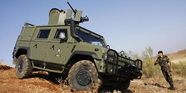 Probamos el vehículo militar blindado