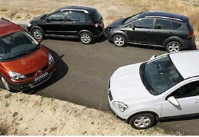 Nissan Qashqai, Scénic Adventure, Altea Freetrack y Cross Golf
