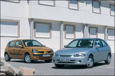 Comparativa: Mitsubishi Colt 1.3 16v GLX / Renault Clio 1.2 16v Dynamique