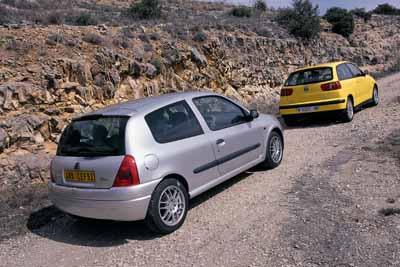 Renault Clio Sport 2.0 16v / Seat Ibiza 1.8i 10v