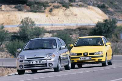 Comparativa: Renault Clio Sport 2.0 16v / Seat Ibiza 1.8i 10v