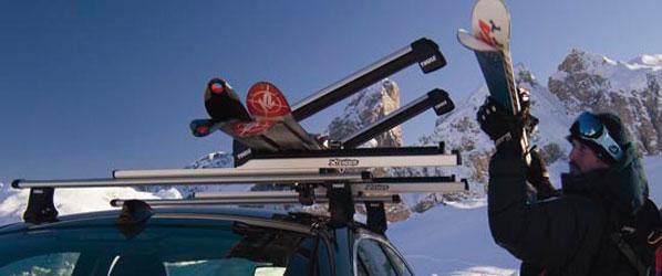 RACE: cuidado con los esquís en el coche