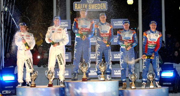 Hirvonen (Ford) se hace con el Rallye de Suecia