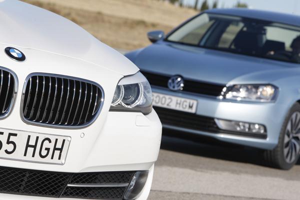 BMW 520d ED Edition contra Volkswagen Passat Bluemotion