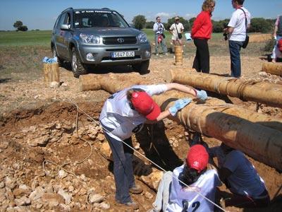 Construir un puente con troncos: ¿fácil?