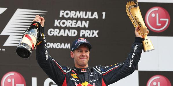 Vettel gana en Corea y le da la vuelta al Mundial