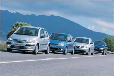 Comparativa: Citroën C3 1.4 HDI SX Plus / Ford Fiesta 1.4 TDCi Ghia / Peugeot 206 1.4 HDI XT / Seat Ibiza 1.9 SDI Stella