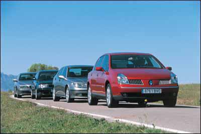 Audi A6 2.5 TDI 180 CV / BMW 530d / Renault Vel Satis 3.0 dCi / Saab 9-5 3.0 V6