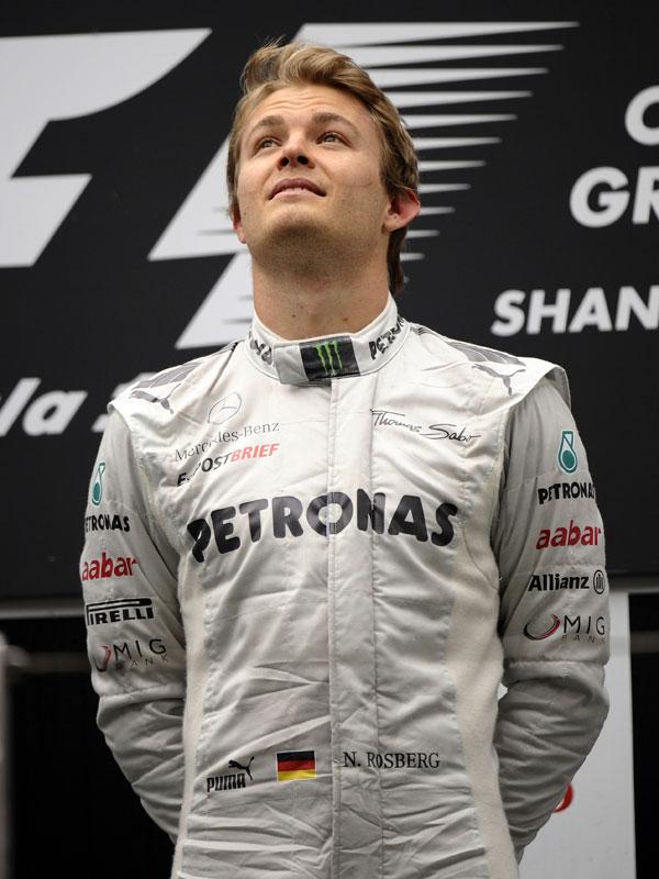 Nico Rosberg se subió por primera vez en en Fórmula 1 a lo más alto del podium
