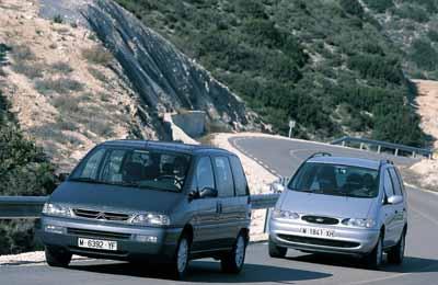 Comparativa: Citroën Evasion HDi Exclusive / Ford Galaxy TDI 110