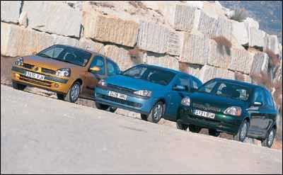 Opel Corsa 1.2 16V Easytronic / Renault Clio 1.2 16V  / Toyota Yaris 1.0 VVT-i