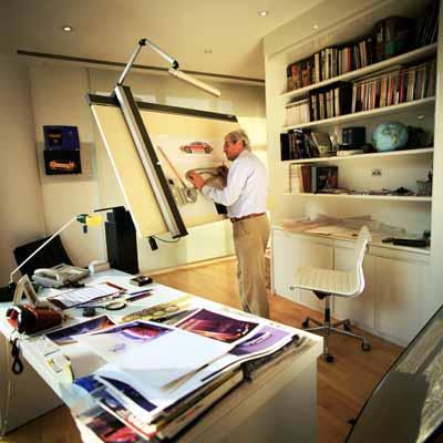 Giorgetto Giugiaro, en su estudio de Italdesign.