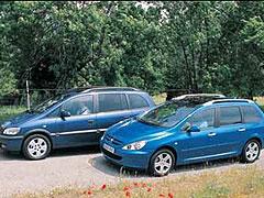 Opel Zafira 2.2 DTI 16v / Peugeot 307 2.0 HDI SW