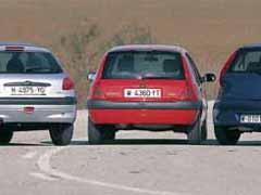 Fiat Punto 1.9 JTD ELX / Peugeot 206 2.0 HDI / Renault Clio 1.9 dTi Tech Road