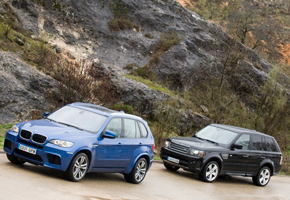 BMW X5M vs Range Rover Sport Supercharged