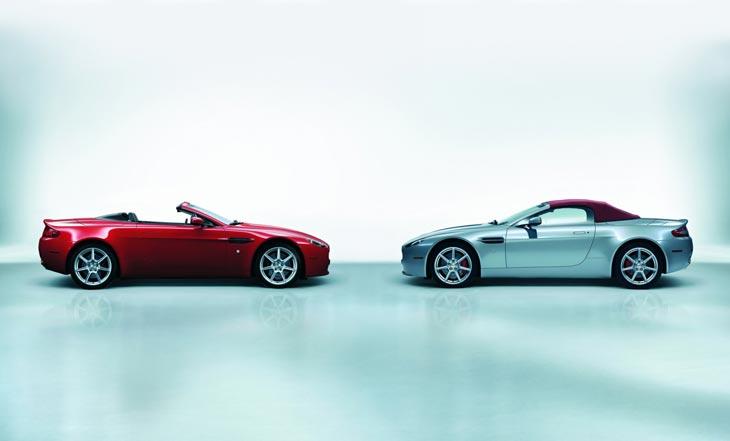 Aston Martin V8 Vantage Roadster.
