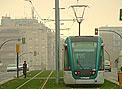 El tranvía de Barcelona, suspendido