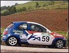 Los pilotos preparan sus vehículos para el Rally de Zaragoza
