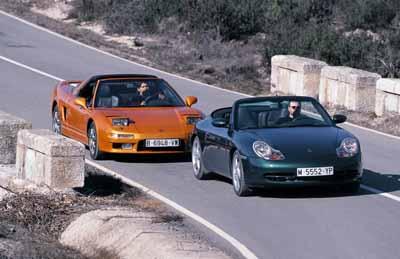 Comparativa: Honda NSX Targa / Porsche 911 Carrera 4 Cabrio
