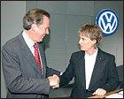 Jutta Kleinschmidt, con Volkswagen