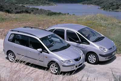 Comparativa: Citroën Xsara Picasso 1.8 / Mazda Premacy 1.8