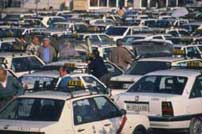 Los taxistas madrileños reclaman su GPS